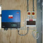 SMA Inverter Domestic Solar System Install in Biloela Shed