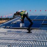 School Solar Panel Install on Rooftop MM Electrics Biloela Queensland